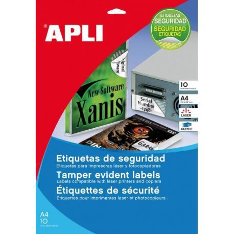 APLI 11271 защитни, гаранционни, самозалепващи, полиестерни етикети