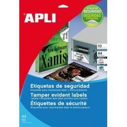 APLI 11272 защитни, гаранционни, самозалепващи, полиестерни етикети