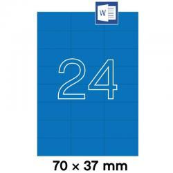 APLI 01592 Сини самозалепващи етикети 70х37мм