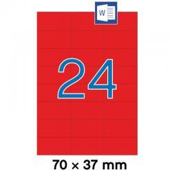 APLI 01593 Червени самозалепващи етикети 70х37мм