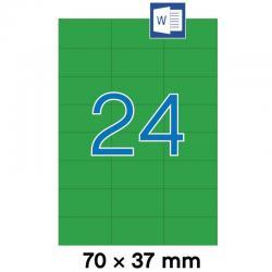 APLI 01594 Зелени самозалепващи етикети 70х37мм