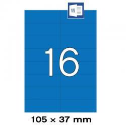 APLI 01596 Сини самозалепващи етикети 105х37мм