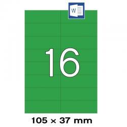 APLI 01598 Зелени самозалепващи етикети 105х37мм