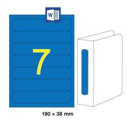 APLI 01371 Сини принтерни етикети за папки и класьори 190х38мм