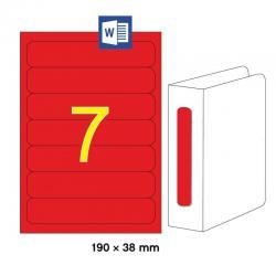 APLI 01372 Червени принтерни етикети за папки и класьори 190х38мм