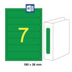 APLI 01373 Зелени принтерни етикети за папки и класьори 190х38мм