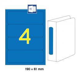 APLI 01375 Сини принтерни етикети за папки и класьори 190х61мм