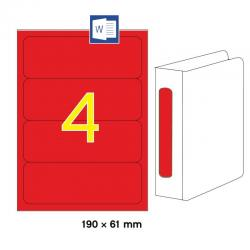 APLI 01376 Червени принтерни етикети за папки и класьори 190х61мм