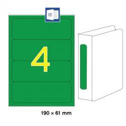 APLI 01377 Зелени принтерни етикети за папки и класьори 190х61мм