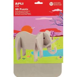 3D EVA пъзел Слон - детскa развлекателно-образователенa играчка