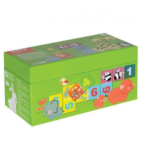Домино-Числата и животните-детска забавно-образователна игра