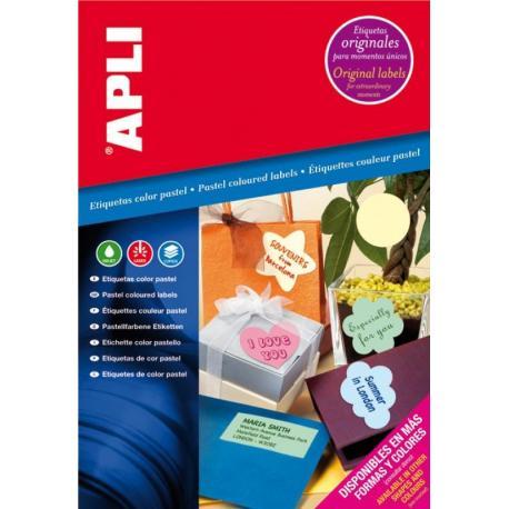APLI 11842 пастелни, самозалепващи, цветни етикети