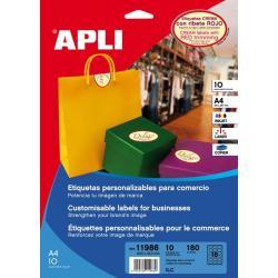 APLI 11986 пастелни, самозалепващи, цветни етикети