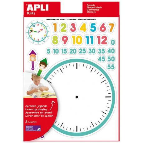 Да научим часовника, образователна игра за деца с 90 стикера