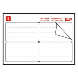 APLI 12556 Джобни етикети - мемори стикери за папки и тетрадки