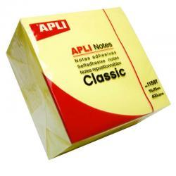 APLI 11597 кубче с 400 самозалепващи, жълти листчета