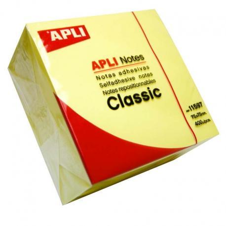 Кубче с 400 висококачествени, жълти самозалепващи листчета за бележки
