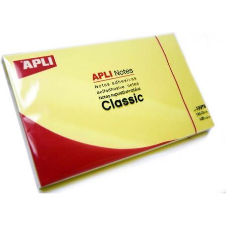 APLI 10976 жълти самозалепващи листчета 100 броя, 125 x 75 мм
