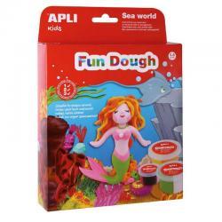 Русалка + 3D сцена морско дъно - творчески комплект - игра с вълшебното тесто на APLI Kids