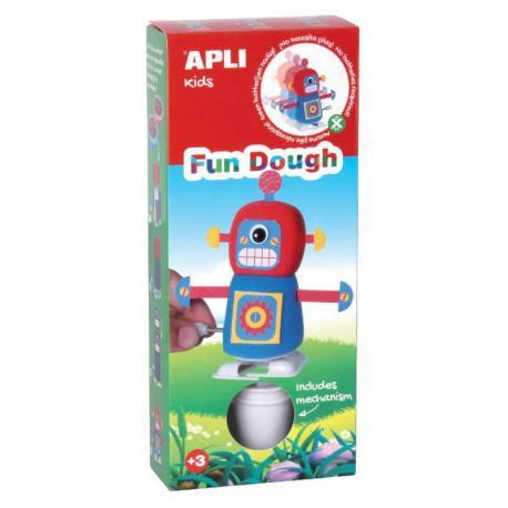 Ходещ робот - Червено и Синьо - творчески комплект - игра с вълшебното тесто на APLI Kids