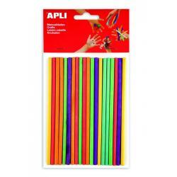 APLI 13482 Цветни дървени пръчки, кръгли, 25 бр.