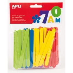 APLI 13077 Цветни пръчки от EVA гума, плоски, 100 бр.