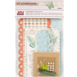 "APLI 14781 Скрапбук комплект за малък албум ""Пеперуди"""