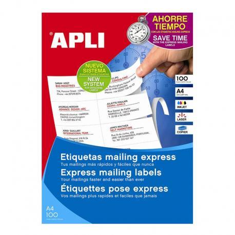 APLI 11875 бели принтерни етикети Мейлинг експрес