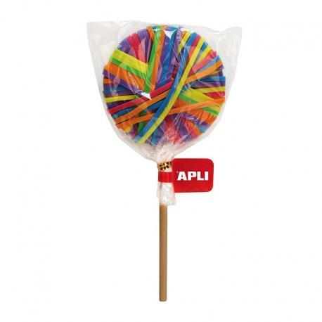 APLI 14009 Цветни ластици във форма на близалка