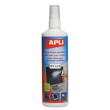 APLI 11324 Антистатичен спрей за почистване на екрани, 250 мл