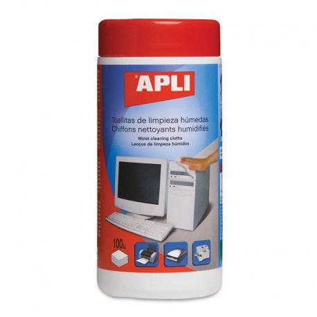 APLI 11301 Мокри кърпички за почистване на офис техника