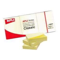 APLI 10977 жълти самозалепващи листчета 300 броя, 38 x 51 мм
