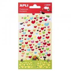 APLI 13509 Самозалепващи епокси стикери - Сърца
