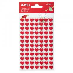 APLI 13511 Самозалепващи стикери от филц - Червени сърца
