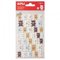APLI 13517 Самозалепващи стикери от филц - Мечета