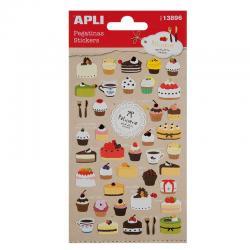 APLI 13896 Самозалепващи стикери - Торти и къпкейкове