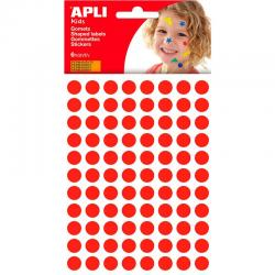 APLI 13229 Самозалепващи червени кръгчета Ф10,5мм