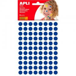 APLI 13231 Самозалепващи сини кръгчета Ф10,5мм