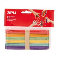APLI 13269 Дървени цветни пръчици 150 х 18 мм