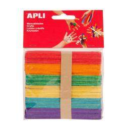 APLI 13064 Дървени цветни пръчици 114 х 10 мм