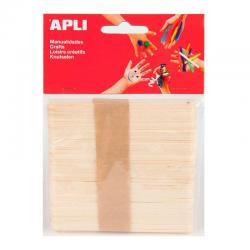 APLI 13063 Дървени плоски пръчици 114 х 10 мм