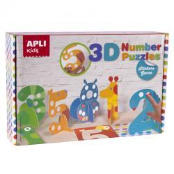 Пъзел 3D Цифри-Животни