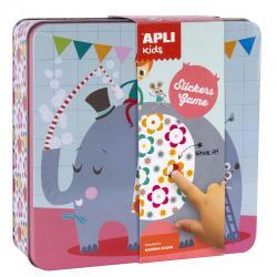 Мозайка със стикери Слон и приятели