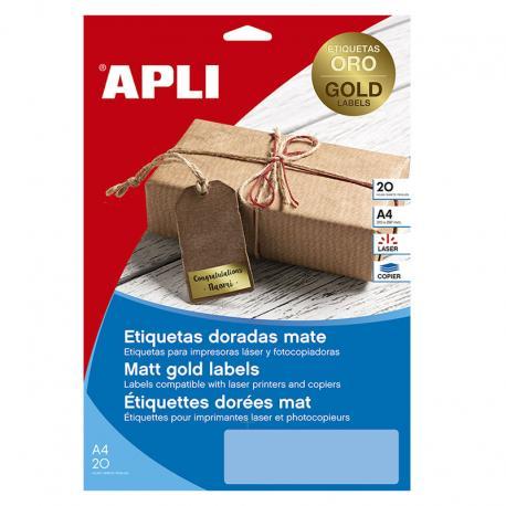 APLI 14887 Златисти, метализирани, водоустойчиви, полиестерни етикети