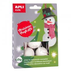 APLI 14347 Направи си сам Снежен човек - играчка за елха