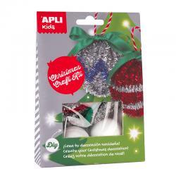 APLI 14349 Направи си сам Коледни топки - играчки за елха