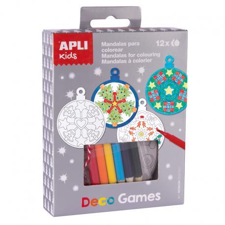 APLI 14975 Декорирай сам Коледни топки-мандали