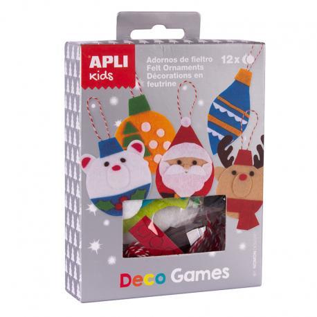 APLI 14974 Декорирай сам Коледни фигурки от филц