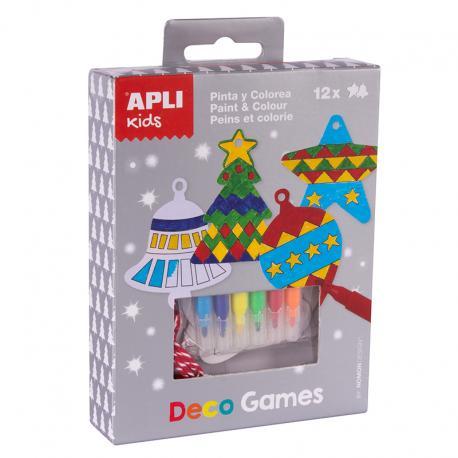 APLI 14972 Декорирай сам Коледни играчки за елха