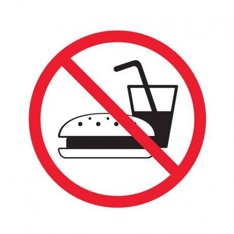 APLI 847 Забранено влизането с храна - самозалепващ знак